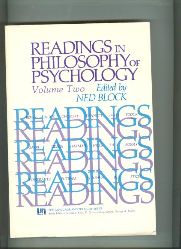 Readings in Philosophy of Psychology, Volume II: Block, Ned