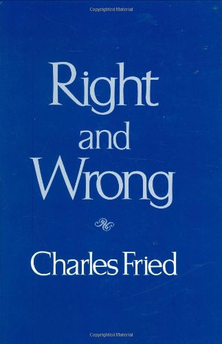 9780674769052: Right and Wrong