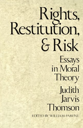 9780674769816: Rights, Restitution, and Risk: Essays in Moral Theory