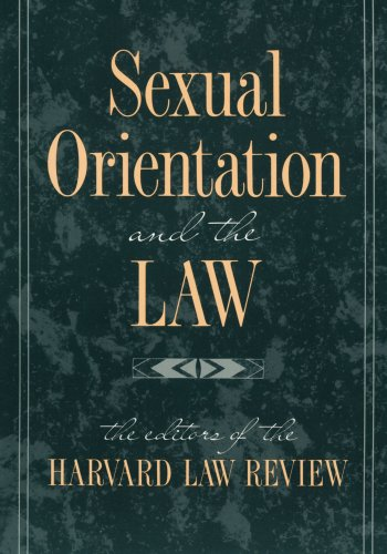 Sexual Orientation and the Law (Paperback): Harvard Law Review
