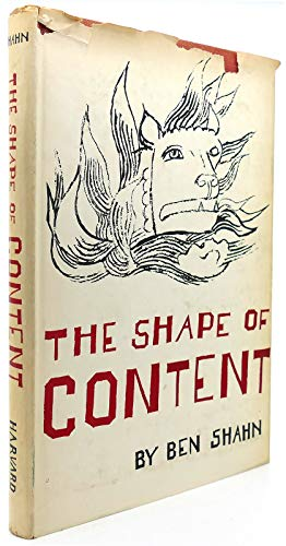 9780674805651: The Shape of Content
