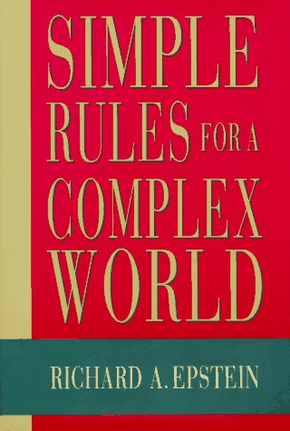 9780674808201: Simple Rules for a Complex World