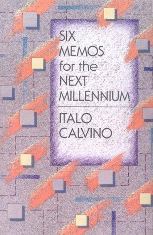 9780674810402: Six Memos for the Next Millennium