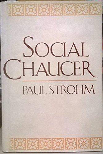 9780674811980: Social Chaucer
