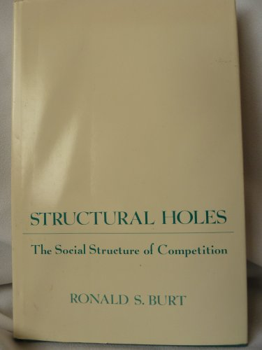 9780674843721: Structural Holes: The Social Structure of Competition