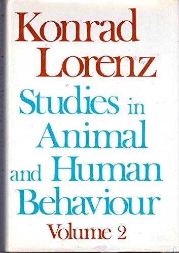 9780674846319: Lorenz: Studies in Animal & Human Behaviour