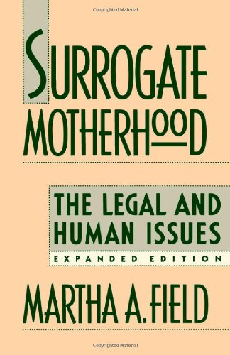 9780674857490: Surrogate Motherhood: The Legal and Human Issues