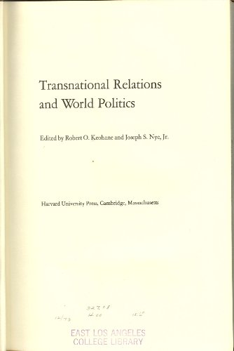 9780674904811: Transnational Relations and World Politics
