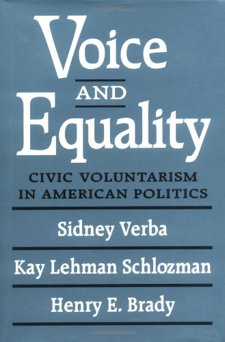 9780674942929: Voice and Equality: Civic Voluntarism in American Politics