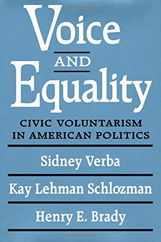 9780674942936: Voice and Equality: Civic Voluntarism in American Politics