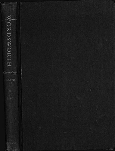 9780674957763: Wordsworth: The Chronology of the Early Years, 1770-90