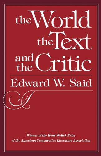 9780674961876: The World, the Text, and the Critic