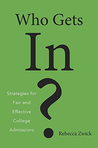 9780674971912: Who Gets in?: Strategies for Fair and Effective College Admissions