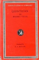 Title Institutio Oratoria of Quintilian/Books VII-IX: Quintilian