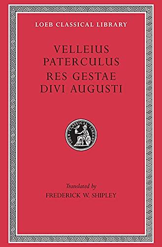 9780674991682: Velleius Paterculus: Res Gestae Divi Augusti