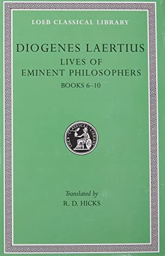 9780674992047: Diogenes Laertius: Lives of Eminent Philosophers, Volume II, Books 6-10 (Loeb Classical Library No. 185)