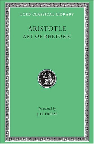 9780674992122: Aristotle, XXII, Art of Rhetoric: 22 (Loeb Classical Library)
