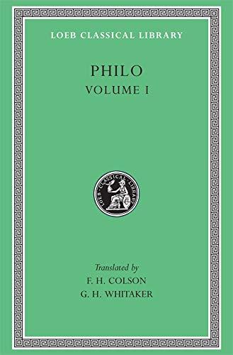9780674992498: Philo, Vol. I (Loeb Classical Library, No. 226)