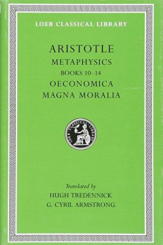 9780674993174: Aristotle: Metaphysics, Books 10-14. Oeconomica. Magna Moralia. (Loeb Classical Library No. 287)
