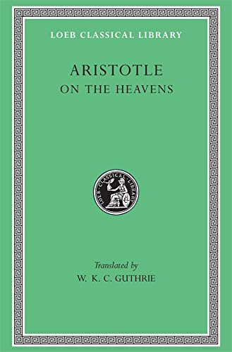 9780674993723: Aristotle: On the Heavens (Loeb Classical Library No. 338)