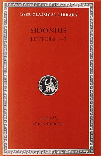 Letters: Books 3-9: Sidonius