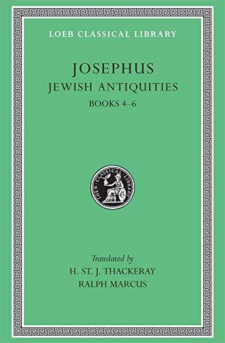 9780674995390: Josephus: Jewish Antiquities, Books 4-6 (Loeb Classical Library No. 490)