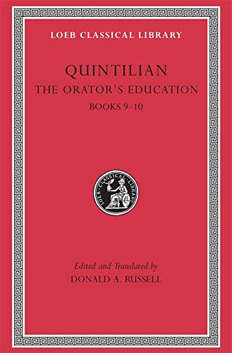 9780674995949: 4: The Orator's Education: v. 4, Bk. 9-10 (Loeb Classical Library)