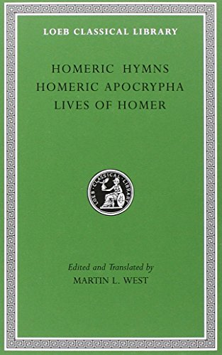 9780674996069: Homeric Hymns. Homeric Apocrypha. Lives of Homer (Loeb Classical Library No. 496)