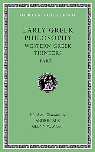 9780674996922: Early Greek Philosophy, Volume IV: Western Greek Thinkers, Part 1 (Loeb Classical Library)