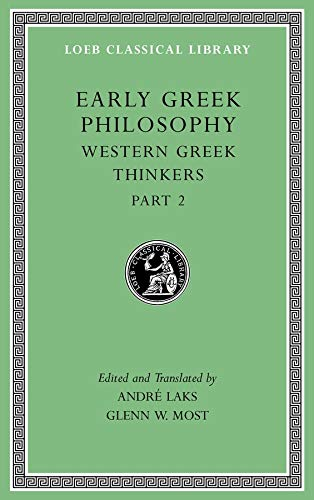 Early Greek Philosophy, Volume V - Western: André Laks and