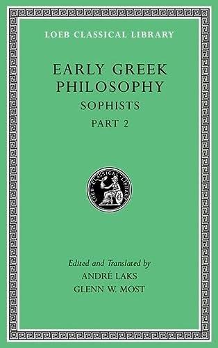 Early Greek Philosophy: Sophists