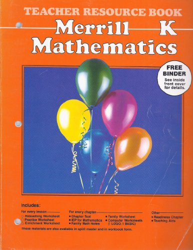 9780675039284: Merrill Mathematics, Kindergarten, Teacher