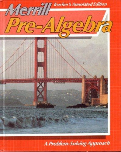 9780675054713: Merrill Pre-Algebra Teacher Annotated