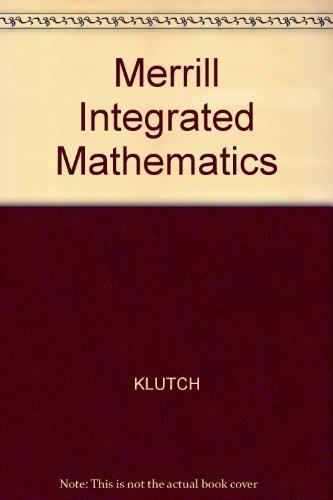 9780675055482: Merrill Integrated Mathematics: Course 3