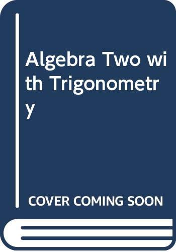 9780675056175: Algebra Two with Trigonometry by Foster, Rath, Winters (1990) Hardcover