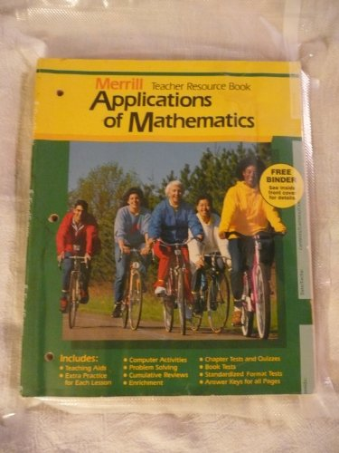 9780675057196: Merrill Applications of mathematics (Teacher Resource Book)