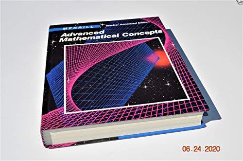 9780675060011: Teacher Annotated Edition (Merrill Advanced Mathematical Concepts)