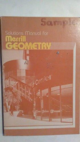 9780675073714: Solutions Manual for Merrill Geometry