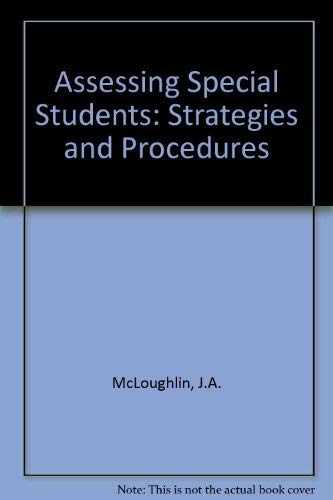 9780675081511: Assessing special students: Strategies and procedures