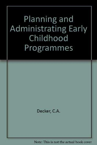 9780675081603: Planning and administering early childhood programs