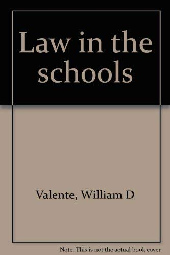 9780675081658: Law in the schools