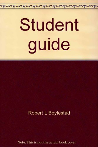 Student guide: To accompany Introductory circuit analysis, 3rd edition (9780675085427) by Robert L Boylestad