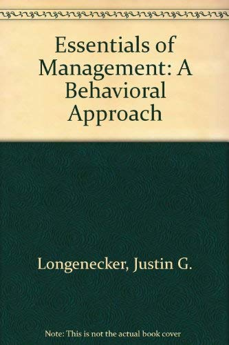 Essentials of Management: A Behavioral Approach.