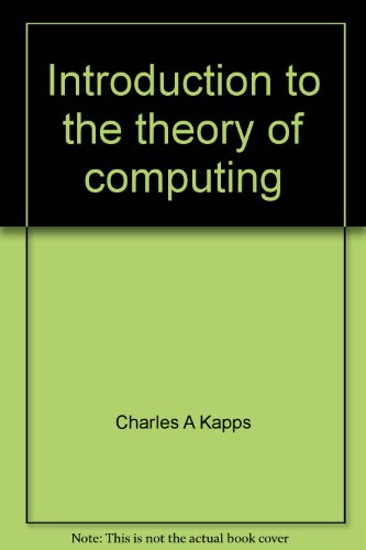 9780675087698: Introduction to the theory of computing
