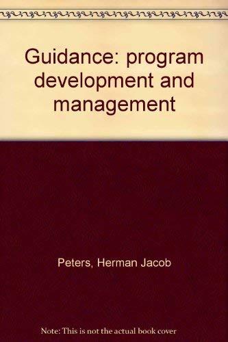 9780675088251: Guidance: program development and management