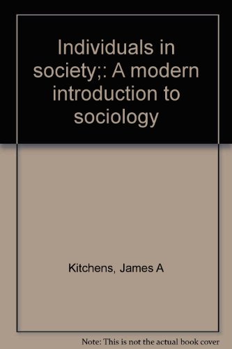 9780675088589: Individuals in society;: A modern introduction to sociology
