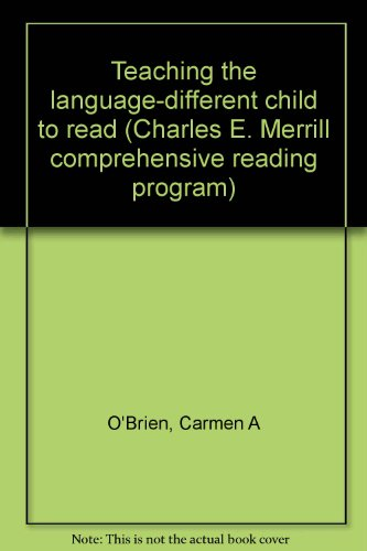 9780675089791: Teaching the language-different child to read (Charles E. Merrill comprehensive reading program)
