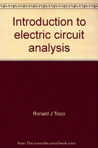 Introduction to electric circuit analysis (Merrill's international: Tocci, Ronald J