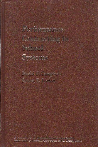 9780675090933: Performance contracting in school systems (Merrill's series for educational administration)
