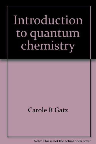 9780675092579: Introduction to quantum chemistry (Merrill physical and inorganic chemistry series)